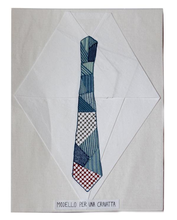 Lucia Molin, Modello per una cravatta - 1° Premio Fondazione A. Marcello per la sezione Ago Stile Moderno