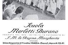 Manifesto anni '30 della Scuola dei Merletti di burano
