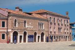La sede del Museo del Merletto in Piazza Galuppi a Burano
