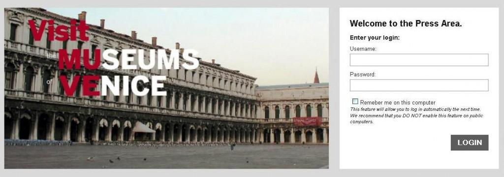 Press Area - Fondazione Musei Civici di Venezia