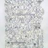 Leslie Hirst La Biblioteca, 2015 Inchiostro e collage su pergamena 91,5 x 61,5 cm